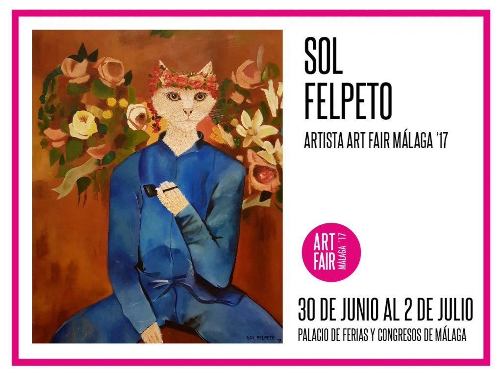 flyer art fair malaga sol felpeto